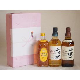 贈り物ウイスキー3本セット(知多 43度 山崎 43度 角瓶 40度) 700ml×3本