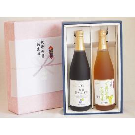 感謝の贈物ボックス ワイン蔵のジュース2本セット(信州ぶどうコンコード果汁100% 有機ナイアガラぶ