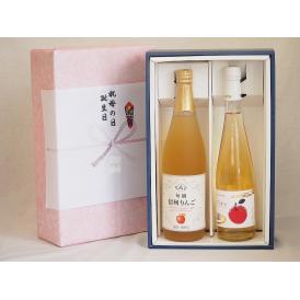 感謝の贈物ボックス 林檎2本セット(信州りんご果汁100% 丹波シードルやや甘口) 710ml×1本
