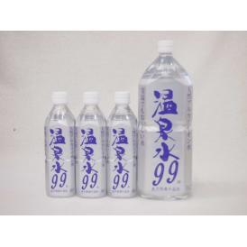 4本セット ファミリー温泉水99セット ミネラルウオーターアルカリイオン水 ペットボトル(鹿児島県)(500ml×3本 2000ml×1本)