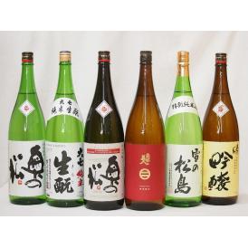 東北限定とっておきの地酒日本酒6本セット(奥の松特別純米酒 全米吟醸 吟醸 南部美人特別純米酒 雪の松島特別純米酒 大七純米酒)1800ml×6本