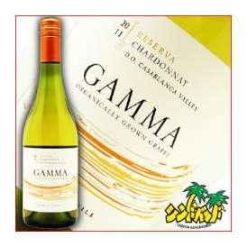 チリワイン 【ガンマ・オーガニック・シャルドネ・レセルバ】 750ml 白ワイン・ギフト、贈り物に!