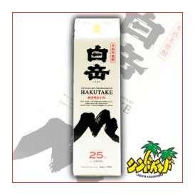 【熊本県】 米焼酎 高橋酒造 白岳 1800mlパック ギフト、贈り物に!