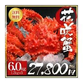 【数量限定販売】花咲ガニ姿特大サイズ(1kg×5尾)【北海道から産地直送】訳ありではない極太増量サイズ/年末ギフトやお歳暮に最適!ご解凍後すぐにお召し上がり頂けます!かに カニ 蟹 花咲がに