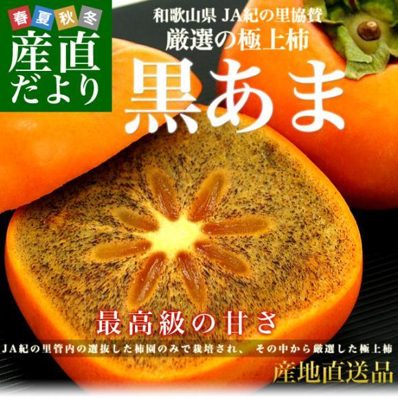 和歌山県より産地直送 JA紀の里 黒あま 2キロ(8玉から9玉) 送料無料 カキ かき 柿 御歳暮 ギフト02