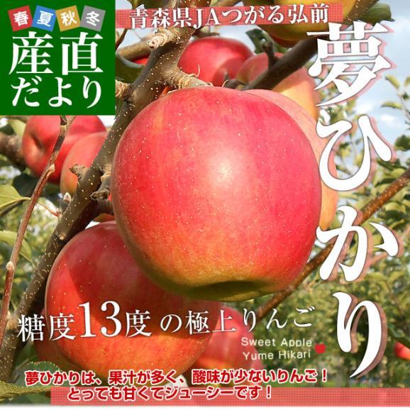 青森県より産地直送 JAつがる弘前 夢ひかり 3キロ(9玉から13玉) 林檎 リンゴ りんご 送料無料02
