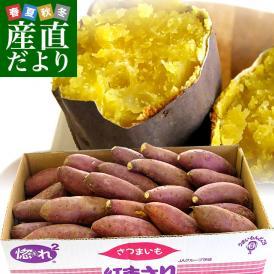 送料無料  茨城県より産地直送  JAなめがた さつまいも「紅まさり」 Sサイズ 約5キロ(25から30本)