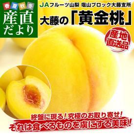 山梨県より産地直送 JAフルーツ山梨 黄金桃 1.8キロ(5〜7玉)