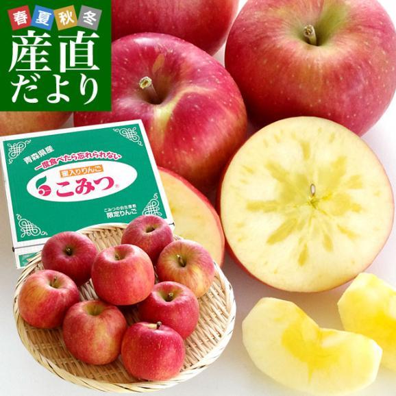青森県より産地直送 JA津軽みらい 蜜入りりんご「こみつ」 秀品 2キロ (8玉から11玉) 送料無料 林檎 りんご01