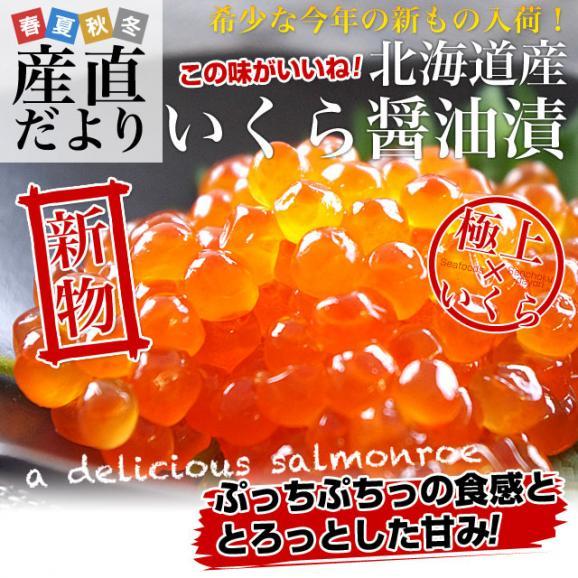 送料無料 北海道産 いくら醤油漬け 200g02
