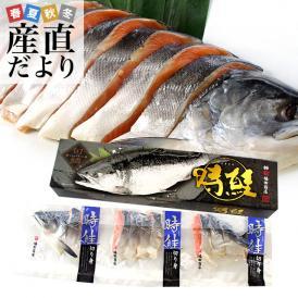 送料無料 北海道加工 時鮭(トキシラズ)<半身> 姿切身 約1キロ ロシア産