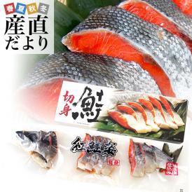 送料無料 北海道加工 天然紅鮭 <中辛> 半身 姿切り身 約800g ロシア産