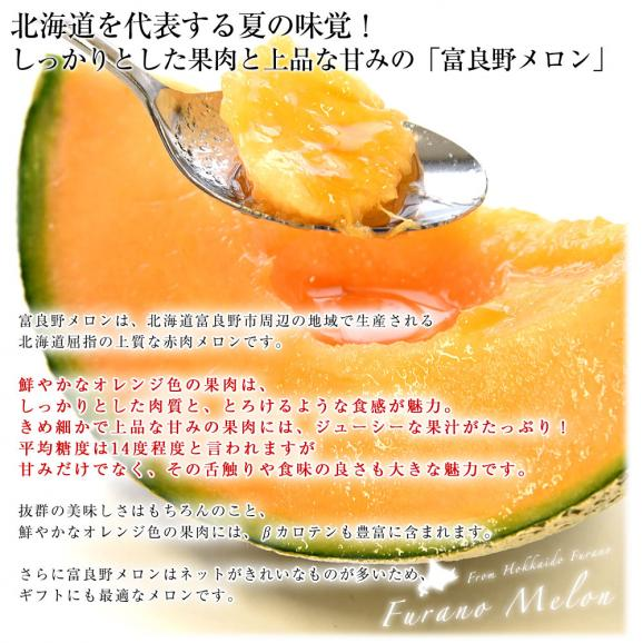 北海道より産地直送 富良野メロン 赤肉 約8キロ (大玉5玉から6玉) (1玉1.3キロから1.6キロ) ふらのめろん レッド 送料無料04