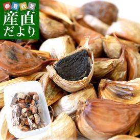 送料無料 香川県より産地直送 JA香川県 熟成黒にんにく 約300g(タッパー入り) 黒ニンニク 大蒜