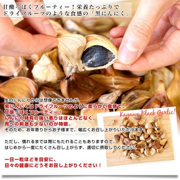 香川県より産地直送 JA香川県 熟成黒にんにく 約300g(タッパー入り) 黒ニンニク 大蒜 送料無料05
