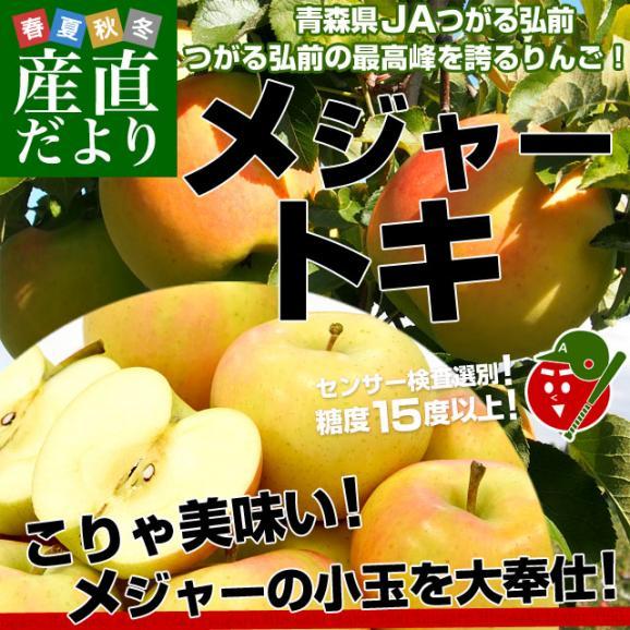 青森県より産地直送 JAつがる弘前 弘前のりんご メジャー トキ 3キロ (小玉 13玉入り) 送料無料 りんご リンゴ 林檎02