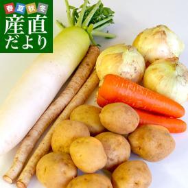 たっぷり野菜詰め合わせ ご自宅直送 応援セット (基本の根菜5品セット) ※じゃがいも、玉ねぎ、にんじん、大根、ごぼう 送料無料