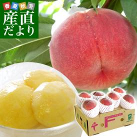一流産地の桃をたっぷり2箱!産地直送でお届けします。