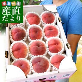 山梨県産 JAふえふき 一宮の超大玉桃 青秀品 原箱5キロ(超大玉12玉サイズ)送料無料 もも