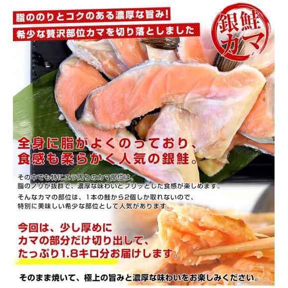 宮城県産 銀鮭のカマ 超ボリューム1.8キロ (360g×5袋)送料無料 ぎんさけ さけかま04