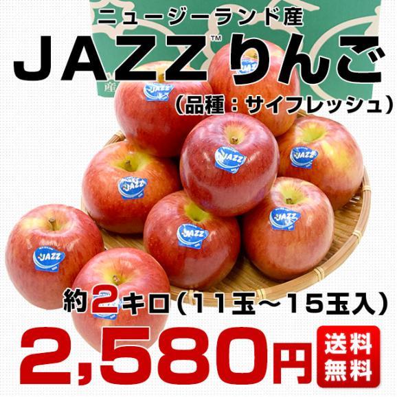ニュージーランド産 JAZZりんご(品種:サイフレッシュ)約2キロ(11から15玉入)リンゴ 林檎 送料無料 市場発送03