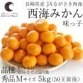 送料無料 長崎県産 JAながさき西海 西海みかん 味っ子 Mサイズ5キロ (秀品) みかん、早生みかん