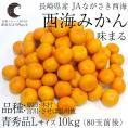 送料無料 長崎県産 JAながさき西海 西海みかん 味まる Lサイズ10キロ (青秀品) みかん、早生みかん
