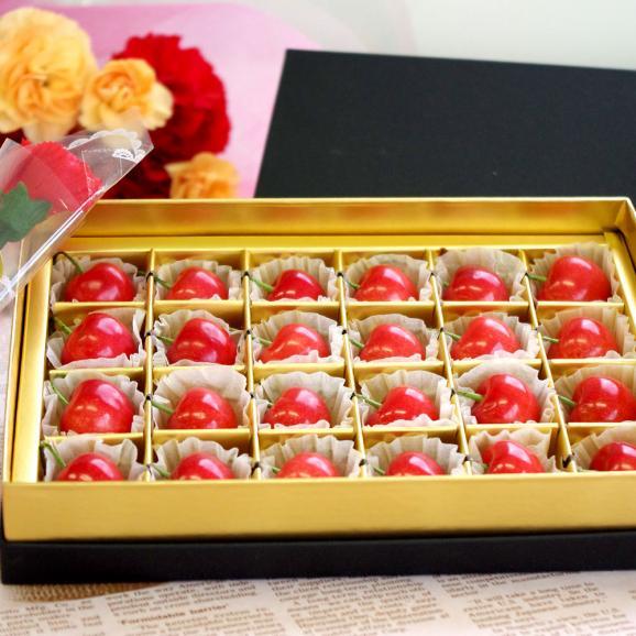 母の日ギフト  送料無料 山形さくらんぼ佐藤錦 大粒のLサイズ 24粒化粧箱入り 母の日プレゼント 桜桃 さとうにしき01