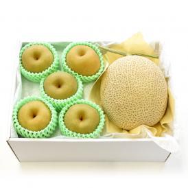 送料無料 北海道メロンと豊水梨 詰合せ 化粧箱入り フルーツセット  めろん なし