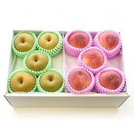 送料無料 特秀桃と豊水梨 詰合せ 化粧箱入り フルーツセット もも なし