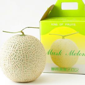 訳あり温室マスクメロン 1個箱 大手百貨店でギフトにも人気の静岡 温室メロン