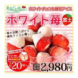 ホワイトチョコ&練乳アイス  ホワイト苺 富士 20個    送料無料