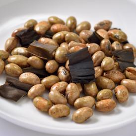 昆布のサクサク感と醤油味の香ばしい大豆のカリカリ、サクサク食感をお楽しみください。