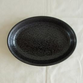 【業務用/和食器/産直】【送料無料】ユーラシア23cm楕円深皿 黒耀×5枚セット サイズ約W23.4×D16.8×T3.4cm (83aa)n