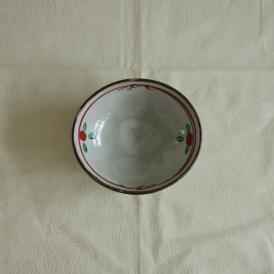 【業務用/和食器/産直】【送料無料】赤絵小花楕円小鉢×10個セット サイズ約W10.8×D9.5×T4cm (55A0)n