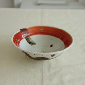 【業務用/和食器/産直】【送料無料】赤絵鉄絵落描 平鉢×3個セット サイズ約φ15.7×T5.5cm (110A0)n