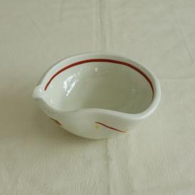 【業務用/和食器/産直】【送料無料】粉引赤絵なごみ小鉢×6個セット サイズ約W12.2×D10.8×T5cm (159aa)n
