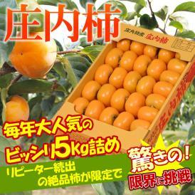 山形県産 訳あり 庄内柿 5㎏ 平箱30-37玉前後 早期予約特価!