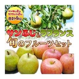 サンふじ・ラフランス 計約4kg 旬のフルーツお試しセット【林檎・洋梨】