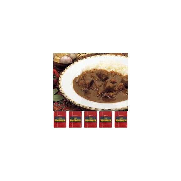【Miyajima】業務用ビーフカレーインド風5食セット(上品な辛さとコク!これぞ定番)【レトルト食品】【jo_62】【】