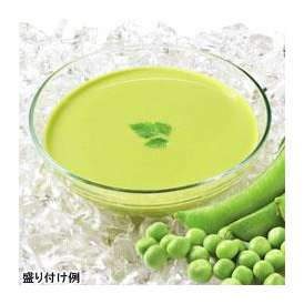 冷たいえんどう豆のスープ