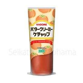 【カゴメ】業務用 バタークリーミーケチャップ 1本(680g)(バターを加えたトマトケチャップ)(業務用調味料)【KAGOME】【jo_62】【】