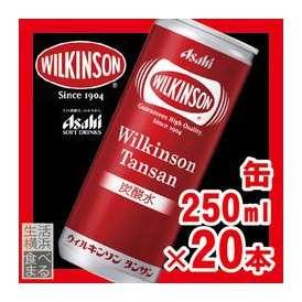 アサヒ飲料 ウィルキンソン タンサン (缶入り) 1ケース(250ml×20本) 【炭酸水】【スパークリングウォーター】【jo_62】