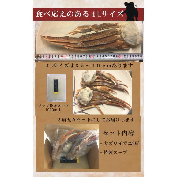 大ズワイガニ(バルダイ種)2肩入り ちゃんこスープセット05