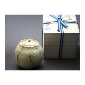 伝統のしぐれを伝統の万古焼に詰め込んで贈ってみませんか? 「型万古 壺 静香作」