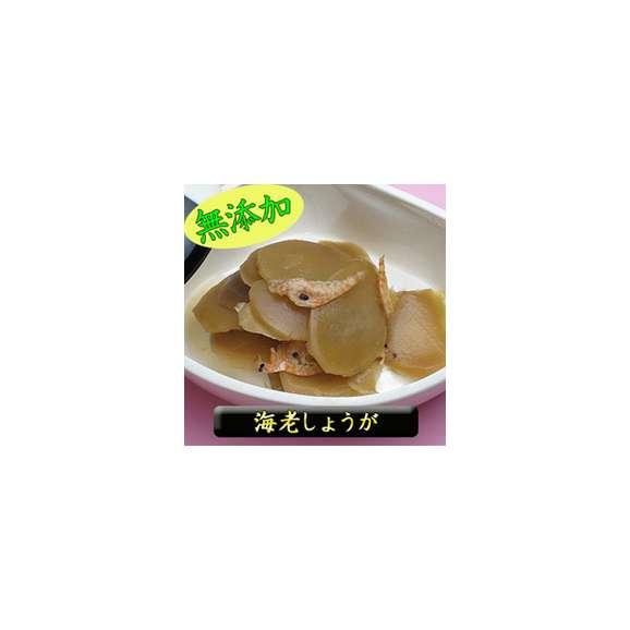 女性に大人気!!※着色料無添加※「海老しょうが70g」漢方でも利用される生姜を食べやすく惣菜風佃煮に炊き上げました。