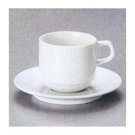 白いコーヒーカップソーサー アメリカンカップ ホテルスタック 業務用