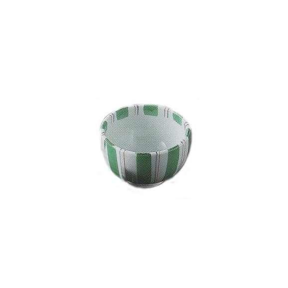 茶碗グリーン十草軽量磁器和食器美濃焼業務用