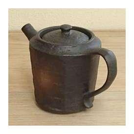 ポット(網カゴ付) 備前黒 和食器 美濃焼 業務用