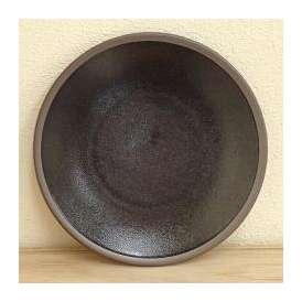 丸皿 7寸5分皿 ブラック 柚雅 美濃焼 和食器 業務用食器